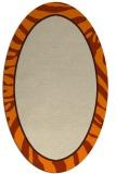 rug #1038878 | oval orange borders rug
