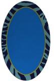 rug #1038910 | oval blue animal rug