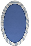 rug #1038926 | oval blue animal rug