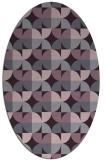 rug #103893   oval purple rug