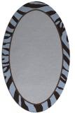 rug #1038990   oval blue-violet borders rug