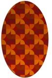 rug #103901 | oval orange natural rug