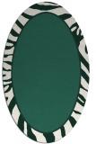 rug #1039014 | oval green borders rug