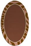 rug #1039026 | oval mid-brown borders rug