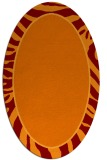 rug #1039082 | oval red-orange stripes rug