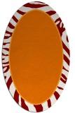 rug #1039086 | oval orange borders rug