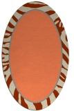 rug #1039090 | oval orange borders rug
