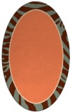 rug #1039094 | oval orange animal rug