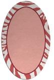 rug #1039110 | oval pink animal rug