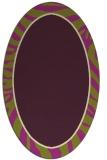 rug #1039118 | oval purple animal rug