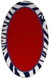 rug #1039130   oval red borders rug