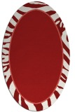 rug #1039138 | oval red animal rug