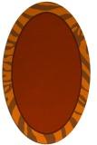 rug #1039146 | oval red-orange animal rug