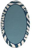 rug #1039187 | oval stripes rug