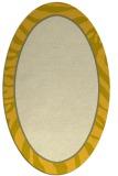rug #1039194 | oval yellow animal rug