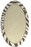 rug #1039198 | oval white stripes rug
