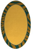 rug #1039206 | oval yellow borders rug