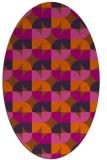 rug #103921 | oval red-orange natural rug