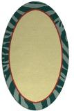 rug #1039210 | oval yellow borders rug