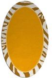 rug #1039230 | oval light-orange stripes rug