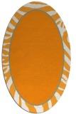 rug #1039238 | oval light-orange animal rug