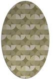 rug #103981 | oval light-green rug