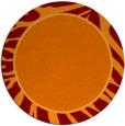 rug #1039818 | round orange stripes rug
