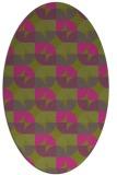 rug #103985   oval light-green rug