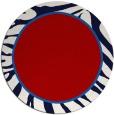 rug #1039866 | round red animal rug