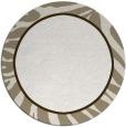 rug #1039926 | round white animal rug