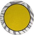 rug #1039938 | round yellow animal rug