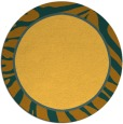 rug #1039942 | round light-orange animal rug