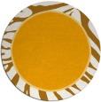 rug #1039966 | round light-orange animal rug