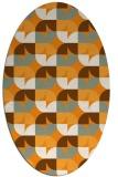 rug #104001 | oval light-orange rug
