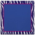 rug #1040454 | square plain blue-violet rug