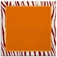 rug #1040558 | square plain orange rug