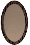 rug #1040736 | oval plain rug