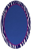 rug #1040822 | oval plain blue-violet rug