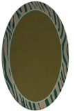 rug #1040834 | oval plain brown rug