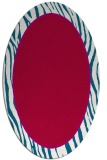 rug #1040838 | oval red animal rug