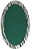 rug #1040854 | oval green borders rug