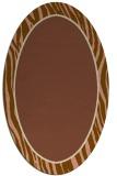 rug #1040866 | oval mid-brown stripes rug