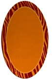rug #1040922 | oval plain red-orange rug