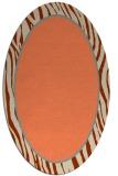 rug #1040930 | oval orange borders rug