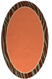 rug #1040934 | oval plain orange rug