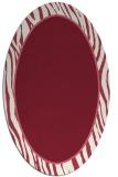 rug #1040942 | oval pink animal rug