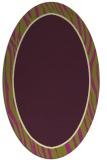 rug #1040958 | oval green borders rug