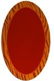 rug #1040974 | oval plain orange rug