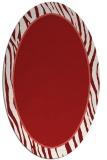 rug #1040978 | oval red animal rug