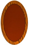 rug #1040986 | oval red-orange animal rug